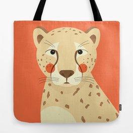Cheetah, Animal Portrait Tote Bag