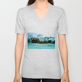 The entrance to the island. Unisex V-Neck