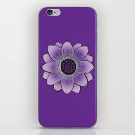 Purple Lotus iPhone Skin