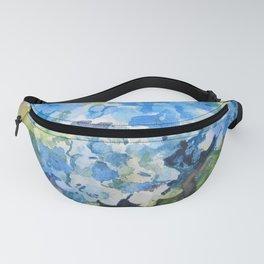 Blue Hydrangeas Fanny Pack
