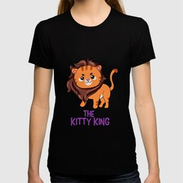 The Kitty King Lion long mane wig cute cartoon T-shirt