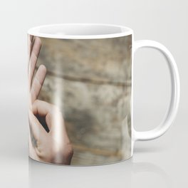 Young adult man holding marijuana cannabis Coffee Mug