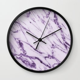 Violet Marble Design Wall Clock