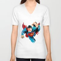 hero V-neck T-shirts featuring HERO by ALmighty1080