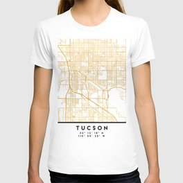 TUCSON ARIZONA CITY STREET MAP ART T-shirt