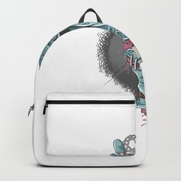 Zombie Chill Hand With Bones Blood Artwork Backpack