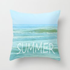 SUMMER. Vintage Throw Pillow