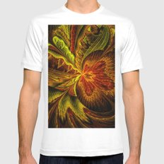 Autumn Orchid MEDIUM Mens Fitted Tee White
