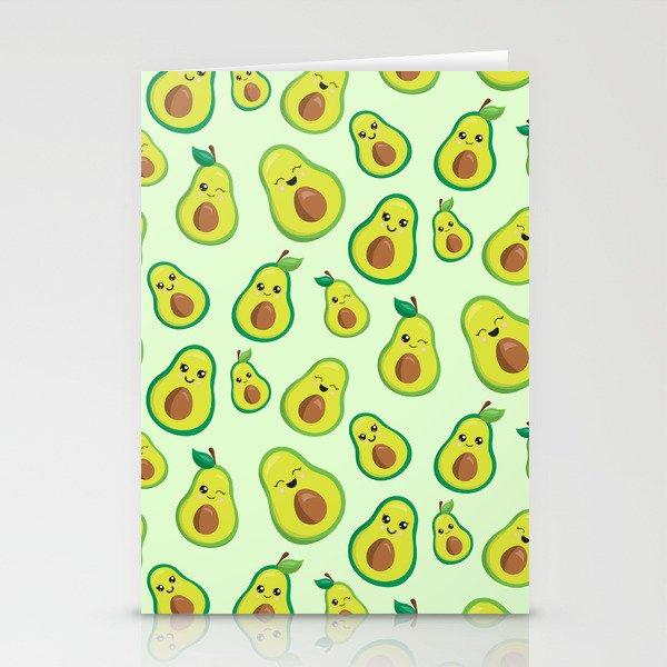 Cute Avocado Pattern Stationery Cards