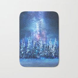 Forest under the Starlight Bath Mat