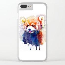 Red Panda Portrait Clear iPhone Case