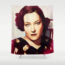 Gloria Swanson, Vintage Actress Shower Curtain