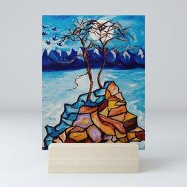 Moonlight Cypress Mini Art Print