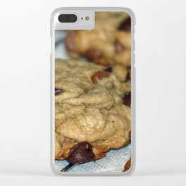 Orange Chocolate Chip Cookies Clear iPhone Case