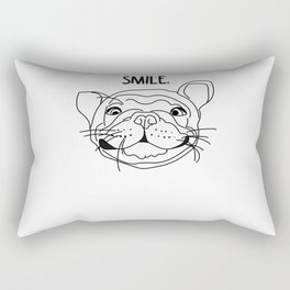 Smile - Frenchie Rectangular Pillow