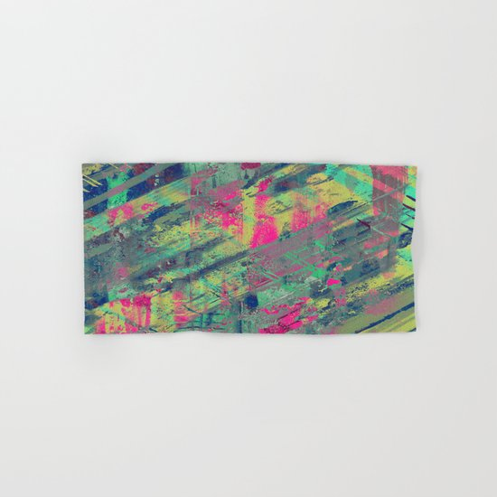 Colour Relaxation - Abstract, textured oil painting Hand & Bath Towel