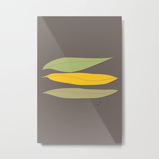 3 Leaves Metal Print