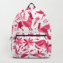 Mexican Otomi Design in Pink Backpack