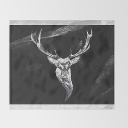 Deer in a montain Throw Blanket