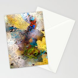 Absract Yellow 332 Stationery Cards