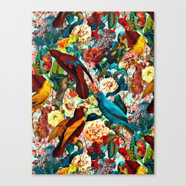 FLORAL AND BIRDS XV Canvas Print