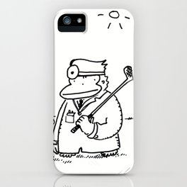Doctor Ape with Golf Club iPhone Case