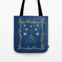 Christmas Pattern Collage Tote Bag
