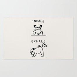 Inhale Exhale Pug Rug