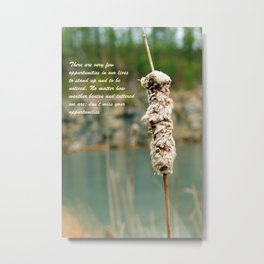Inspiration of a cattail Metal Print