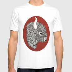 The Buffalo MEDIUM White Mens Fitted Tee