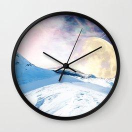 Two Moons Wall Clock