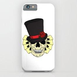 Magician Skull in Top Hat iPhone Case