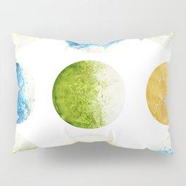 Abstract acrylic circles | Coloured moon pattern Pillow Sham