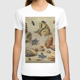 "Jan van Kessel de Oude ""Seashells, butterflies, flowers and insects"" T-shirt"