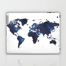 Space Milkyway World Map Laptop & iPad Skin
