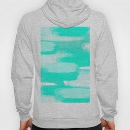 Modern turquoise teal watercolor brushstrokes pattern Hoody