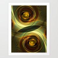 infinity Art Prints featuring Infinity by Klara Acel