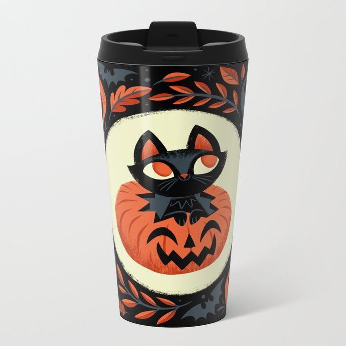 Happy Halloween Metal Travel Mug