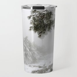 """""""Snowy forest"""". At the foggy mountains... Travel Mug"""