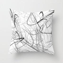 Crazy lines Throw Pillow