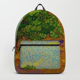 Olive Orchard November Oil Painting by Vincent van Gogh Backpack