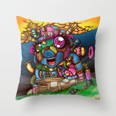 mad house Throw Pillow