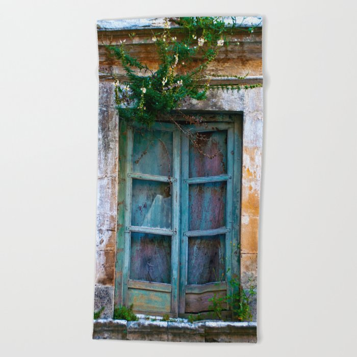 Abandoned Sicilian House in Noto Beach Towel