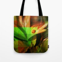 ladybug Tote Bags featuring Ladybug  by SensualPatterns