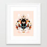 queen Framed Art Prints featuring Rainbow Queen by Muxxi