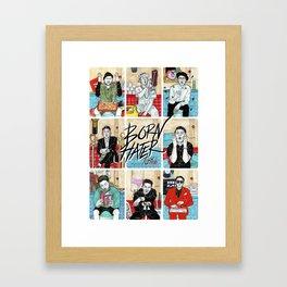 Born Hater Framed Art Print