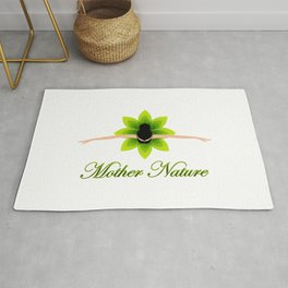 Mother nature dancing- World earth day- environment day Rug