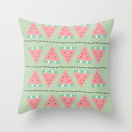 watermelon repeat Throw Pillow