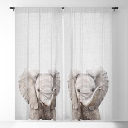 Baby Elephant - Colorful Blackout Curtain