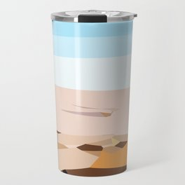 brown blue and dark brown abstract background Travel Mug
